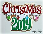 CRAFTECAFE CHRISTMAS KID TITLE Premade paper piecing scrapbook diecut piece page