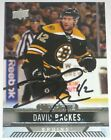 DAVID BACKES SIGNED 17-18 UPPER DECK OVERTIME BOSTON BRUINS CARD AUTOGRAPH AUTO!