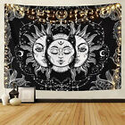 Bohemian Tarot Tapestry Sun Moon Psychedelic Tapestry Wall Hanging Throw Decor