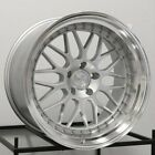 18x85 18x95 Aodhan AH02 5x120 +35 Silver 18 In Wheels For BMW 325 330 328 Z4