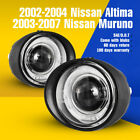 Fits 03 07 Nissan Murano 02 04 Altima Fog Lights Halo Projector Clear Glass Lens