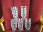 Vintage Indiana American Whitehall Cubist Iced Tea Glasses/Water Goblets(5)