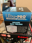 2 Ultra Pro UV Baseball Cube Holders with ball cradle Display New Ball Cubes