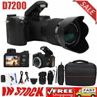 D7200 33MP Digital Camera DSLR 0.5X Wide Angle Lens 24X Telephoto Lens LED Light