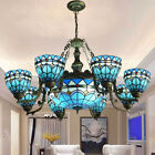 Tiffany Stained Glass Chandelier Living Room Ceiling Light Pendant Lamp Fixture