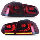 Customized RED SMOKED LED Taillights for 10 13 VW GOLF 6 MK6 GTI 12 13 Golf R