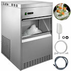 Vevor Snowflake Ice Maker Commercial Ice Maker Machine Stainless Steel Crusher