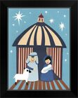 Nativity 2014 Black Framed Wall Art Print Christmas Home Decor
