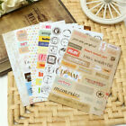 Wholesale Diary Book Paper Planner Stickers Transparent Calendar Scrapbook