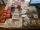 Vintage NOS HOMELITE Red & White Box & Baggies of Chainsaw Parts Lot