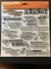 Fiskars Quote Clear Stamps 8X8 Good Times
