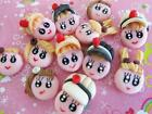 SALE 12 Cute Little Girl Doll Hand Made Clay Poly Resin Craft Embellishment B63