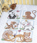 Dimensions Quilt Stamped Cross Stitch Kit 34X43 Animal Babies 13083