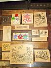 STAMPS HAPPEN STAMPA ROSE Large Stamps Mixed Brands Birds Christmas Floral