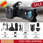 33MP HD D7300 Camcorder Camera Wide Angle Lens 24X Telephoto Lens+LED+Tripod NEW