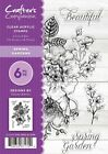 Crafters Companion Clear Stamp Sets Spring Gardens 6 pc NEW