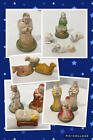 Antique Vtg PUTZ Chalkware NATIVITY Figure Animal COMPLETE Set LOT 14 EXCELLENT