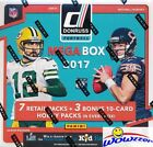 2017 Donruss Football EXCLUSIVE Factory Sealed 10 Pack MEGA Box w 3 HOBBY PACKS!