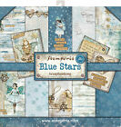 Stamperia Double Sided Paper Pad 12X12 10 Pkg Blue Stars 10 Designs 1 Each