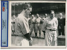LOU GEHRIG Luckiest Man on the Face of the Earth Speech Photo PSA/DNA TYPE II