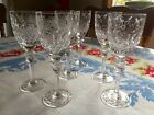 ROGASKA GALLIA Set of 7 Wine Goblet Glasses 7 3 4 Tall Cut Lead Crystal Stems