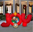 Holiday NATIVITY JOY Sign 85Ft Christmas Airblown Inflatable Yard Decoration