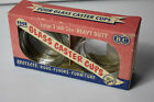 NEW Vintage 4 Glass Caster Cups by Bartlett-Collins original box ~~ large 3