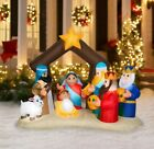 Christmas 65Ft Lighted Nativity Scene Inflatable Yard Decor Pre Lit Baby Jesus