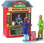 New Lemax Xmas Village Street Vendor COFFEE BEAN Kiosk Accessory Dept56 Train