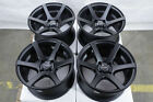15x8 Black Wheels Fits Toyota Yaris Prius C Mr2 Echo Corolla Versa Miata Rims