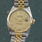 Rolex Datejust 36 Automatik Stahl Gold Diamond LC100 Full Set Tresoruhr 16013