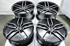 20x9 20x105 5x112 Staggered Black Wheels Fits Mercedes Bmw 7 Series 740 Rims