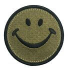 Camo Smiley Face Patch Iron On 100 Embroidered