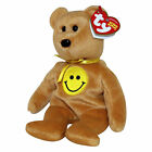 Ty Beanie Baby Dimples - MWMT (Bear Smiley Face Internet Exclusive)