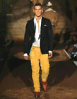 3850  DSQUARED LEATHER GOLD SUEDE JEANS VINTAGE WESTERN 32 48 CATWALK PROTO