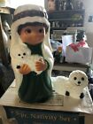 New Blow Mold Nativity Shepherd with Sheep