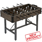 56 Inch Wooden Foosball Table Soccer Arcade Game Room 4 Player Indoor Room Table