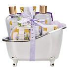 Spa Luxetique Bath Spa Gift Set with Relaxing Lavender Oil, Premium 8pc Spa Gift