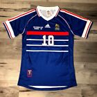 Adidas Authentic 1998 World Cup France Zidane Home Blue Jersey Shirt Kit