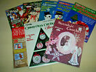 Lot of 8 Books  Magazines with Christmas Crochet Snowflakes Ornaments More