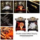 2 Ply Tiger Crafted Crystal Velvet Plush Mink King Size Blanket 10 LBS 85 x 93