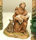 FONTANINI DEPOSE ITALY 5 ST FRANCIS w ANIMALS NATIVITY VILLAGE FIGURE 65260 NIB