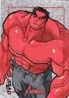Marvel Greatest Heroes Color Sketch Card by Joseph O'Brien - Red Hulk