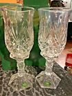 Pair of Shannon Crystal Lexington Hurricane Lamps Heavy Glass Candle Holders 2