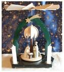 Small Nativity Pyramid 2 Tier + Figures  Candles