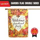 LAYOER Home Garden Flag 28 x 40 Inch Double Sided Fall Autumn Leaf Welcome