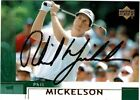PHIL MICKELSON 2002 Upper Deck Golf ROOKIE Card #41 AUTOGRAPH Auto Signed