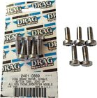 Drag Specialties Rotor Bolt Kit for Cast Wheel Front Chrome 5-Pack