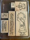1999 WOOD MOUNTED STAMPIN UP RUBBER STAMPS  STAR SANTA
