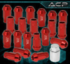 For Suzuki M12X1.25 Locking Lug Nuts Sport Racing Heavy Duty Aluminum Set Red